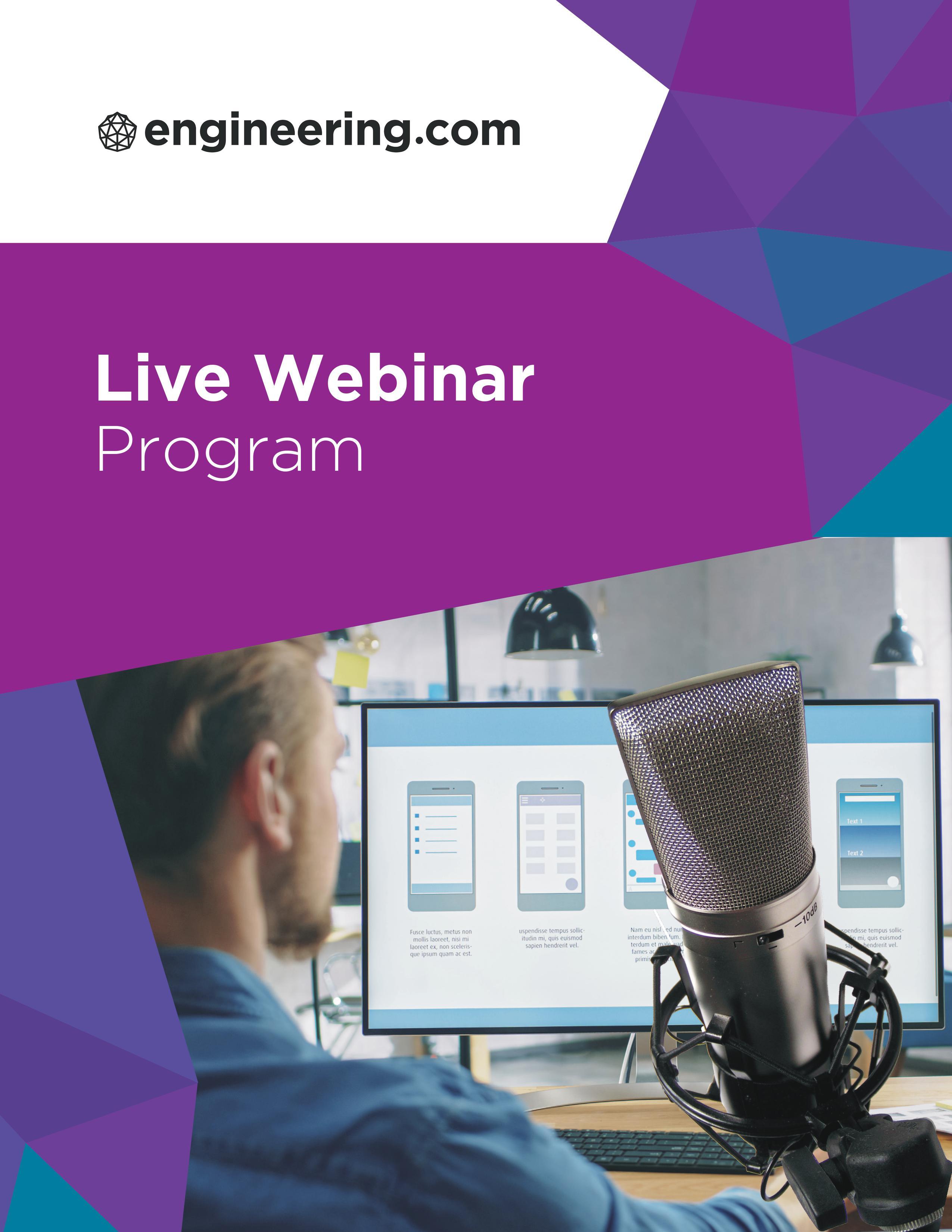 Live Webinar Program Brochure